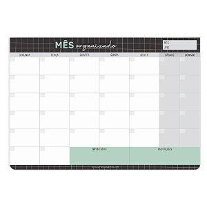 Bloco Planner Mensal Grid