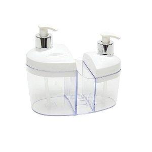 Porta Detergente e Álcool em Gel Branco