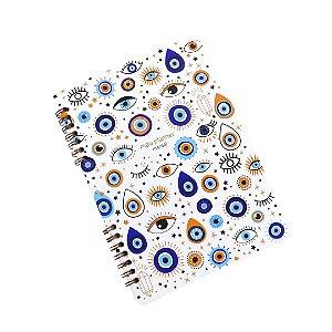 Planner Mensal Olho Grego Branco