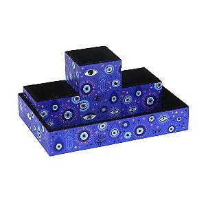 Organizador de Mesa Olho Grego Azul