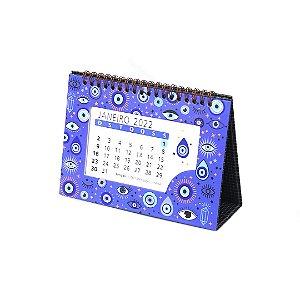 Calendário de Mesa 2022 Olho Grego Azul