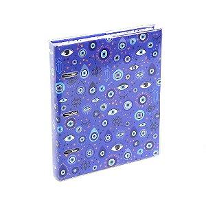 Caderno Argolado Fichário Olho Grego