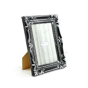 Porta Retrato Antique Prata 10x15