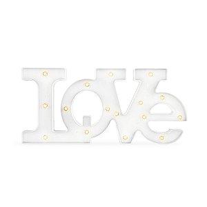 Letreiro Love Branco com LED