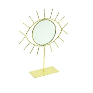 Escultura Decorativa de Ferro Olho Grego com Espelho