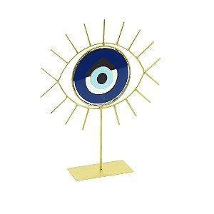 Escultura Decorativa de Ferro Olho Grego