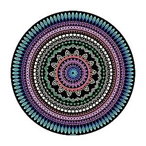 Manta Mandala Aveludada Multicolorida