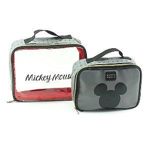 Kit com 2 Necessaíres de Viagem Mickey Mouse