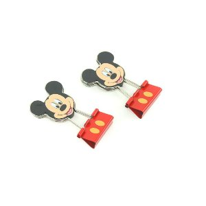 Clipes Multifuncional Blinder Clip Mickey com 2 Unidades