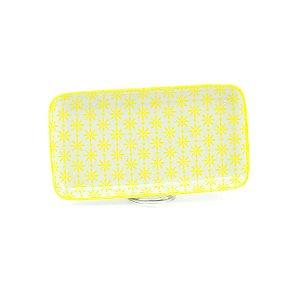 Bandeja de Cerâmica Retangular Amarelo Estelar