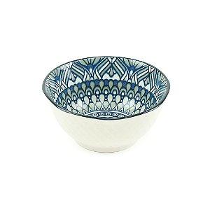 Bowl de Cerâmica Azul e Cinza Pequeno