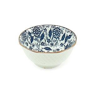 Bowl de Cerâmica Floral Azul Pequeno