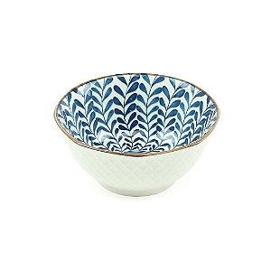 Bowl de Cerâmica Folhas Azul Pequeno