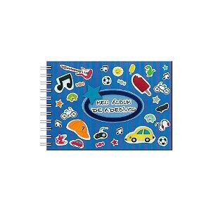 Álbum para Adesivos Listrado Azul