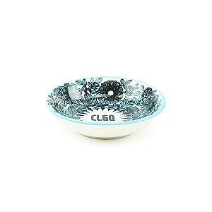 Mini Bowl de Cerâmica Oriental Floral Azul