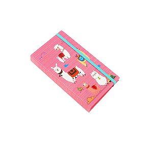 Caderno Fun Lhama no Deserto Rosa