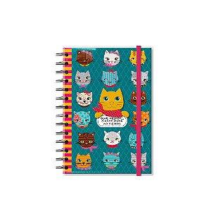 Caderno Médio Decorado Gatinhos Divertidos