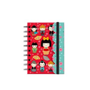 Caderneta Recortada Kokeshi Vermelha