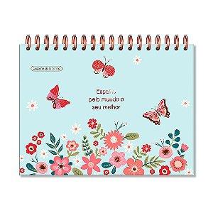Caderno de Lettering Borboletas Folhas Pretas