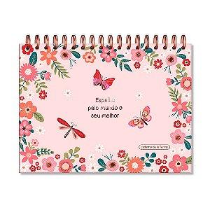 Caderno de Lettering Borboletas Folhas Brancas