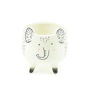 Cachepô de Porcelana com Pés Elefante Médio