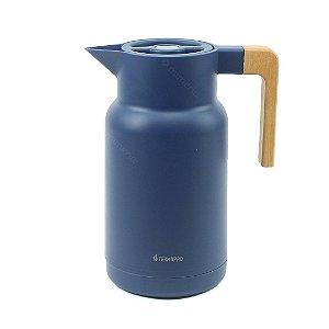 Garrafa Térmica Wood Fashion Azul 1 Litro