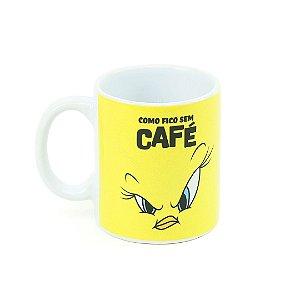 Caneca Looney Tunes Piu Piu Zangado Como Fico Sem Café
