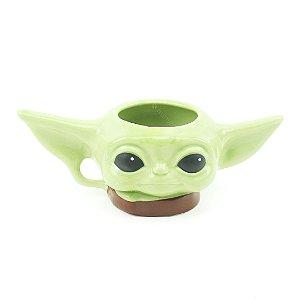 Caneca de Porcelana Decorativa 3D Baby Yoda