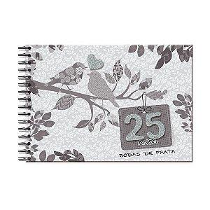 Álbum de Recordações Bodas de Prata Pássaros
