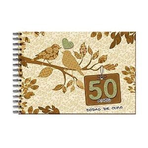 Álbum de Recordações Bodas de Ouro Pássaros