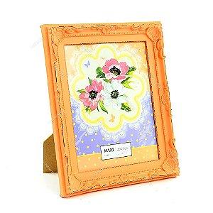 Porta Retrato Vintage Candy Laranja 20x25