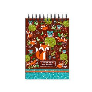 Caderno de Ideias Raposa e Coruja