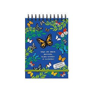 Caderno de Ideias Borboletas no Jardim