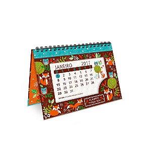 Calendário de Mesa Decorado Raposa e Coruja 2107