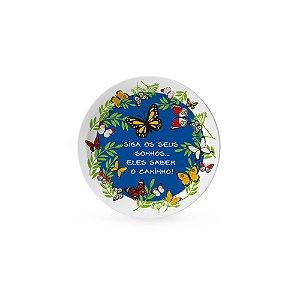 Pratinho Decorativo Pequeno Borboletas no Jardim