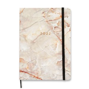 Agenda 2022 Planner Semanal Planejamento Minerais Mármore Branco Grande
