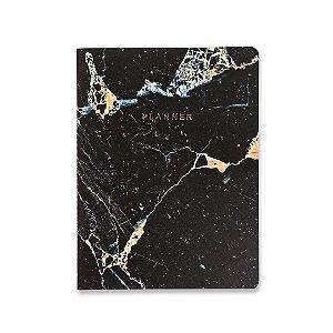Planner Mensal Minerais Mármore Preto