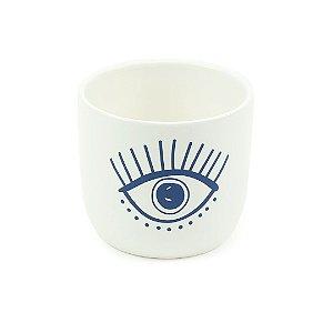 Cachepô em Porcelana Olho Azul