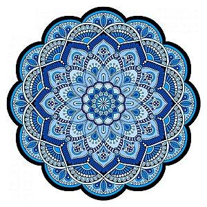 Tapete Mandala Floral Azul