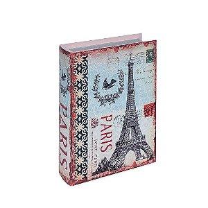 Conjunto 2 Livros Caixa Decorativos Paris Vintage