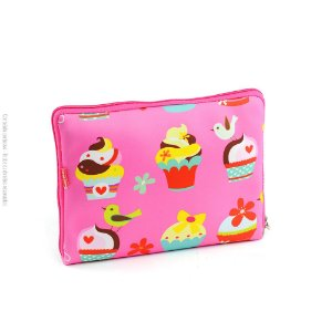 Case para Tablet Ziper Cupcake