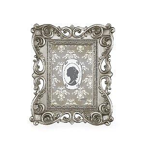 Porta Retrato de Resina Clássico Prata 10x15