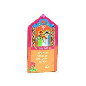 Plaquinha Tag Sagrada Família