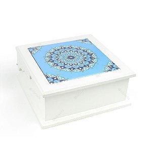 Caixa de Chá MDF Nepal Azul