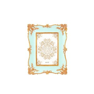 Porta Retrato de Resina Vintage Azul 10x15
