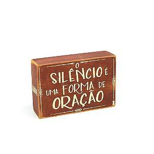 Quadro Box Silêncio 10x15