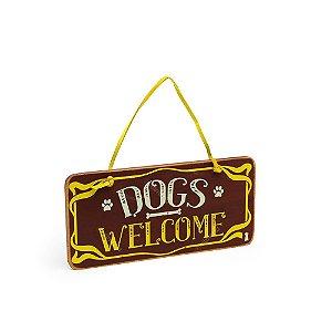 Placa de Porta Dogs Welcome
