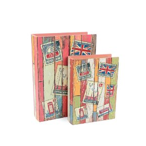 Conjunto 2 Livros Caixa Decorativos London