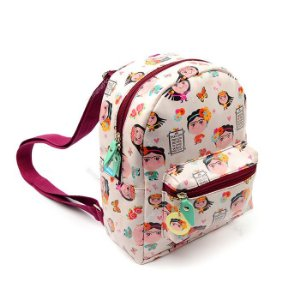 Mini Mochila Estampada Frida