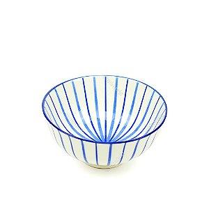 Bowl de Cerâmica Pequeno Listras Azul
